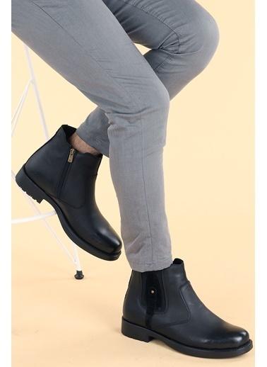 Ayakland Ayakland 651 Cms Termo Taban ıçi Kürklü Fermuarlı Erkek Bot Ayakkabı Siyah